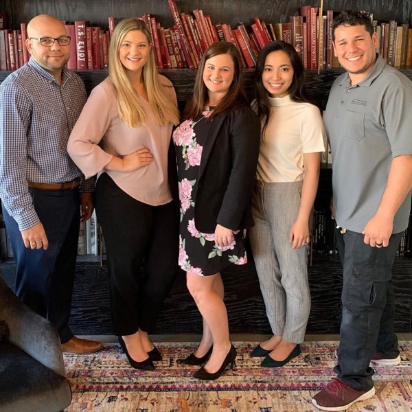Meet the friendly West Village team!  From left to right: Jeremy, Leasing Professional Hannah, Leasing Manager Kaylynn, Community Manager  Mav, Leasing Professional  Victor, Service Supervisor  If you haven't met one of us yet, come by and say hi! We would love to get to know you. . . . . #movewest #westvillageokc
