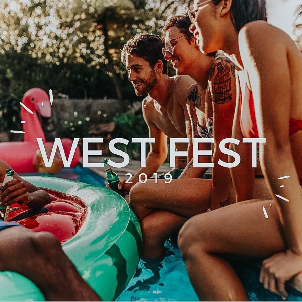W E S T • F E S T • 2019 • • • Our team is SO excited to host our first annual West Fest on August 31st for our residents. A DJ, cornhole tournament, raffle prizes, food from @thejonesokc, free drinks, and all the fun is on the agenda. Bring a friend with you and show them why they should also #movewest!